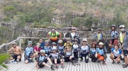 Turma do Dv na Trilha, no mirante da cachoeira Almécegas